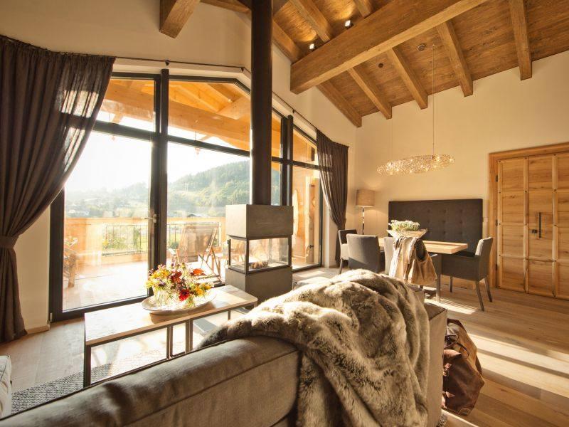chaletsuite mit sauna naturhotel forsthofgut in leogang. Black Bedroom Furniture Sets. Home Design Ideas