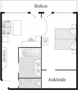 Hotel Rosenalp-Zimmerplan